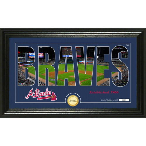 "Photo of Atlanta Braves ""Silhouette"" Panoramic Bronze Coin Photo Mint"