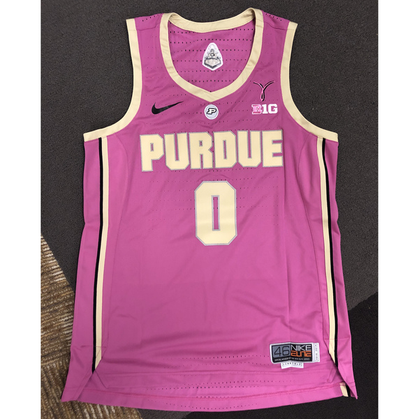 Photo of Purdue Women's Basketball 2018-19 Commemorative Cancer Awareness Pink Jersey #0 / Size 46+2