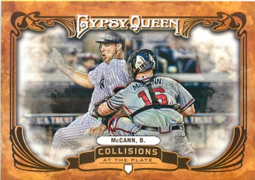 Photo of 2013 Topps Gypsy Queen Collisions At The Plate #BM Brian McCann