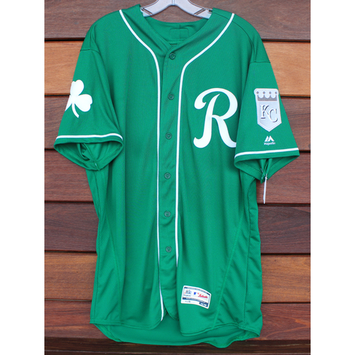 Photo of Team-Issued St. Patrick's Day Jersey: Kyle Isbel (Size - 46)
