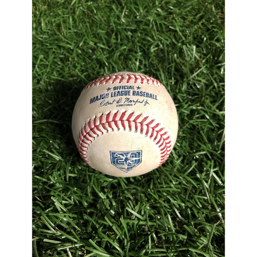 Photo of 20th Anniversary Game Used Autographed Baseball: Blake Snell (CY YOUNG SEASON) strikes out Whit Merrifield and Alex Gordon - August 21, 2018 v KC