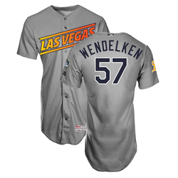 Photo of J.B. Wendelken #57 Las Vegas Aviators 2019 Road Jersey
