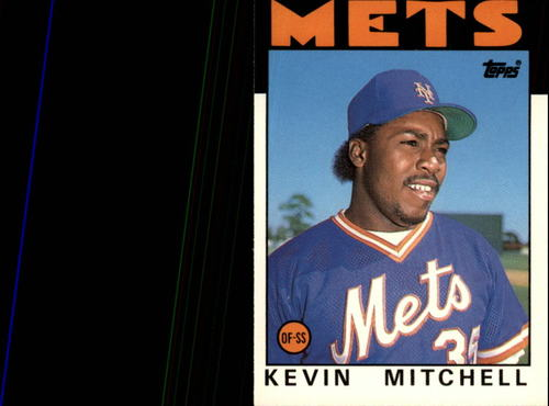 Photo of 1986 Topps Traded #74T Kevin Mitchell XRC