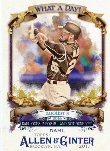 Photo of 2017 Topps Allen and Ginter What a Day #WAD52 David Dahl