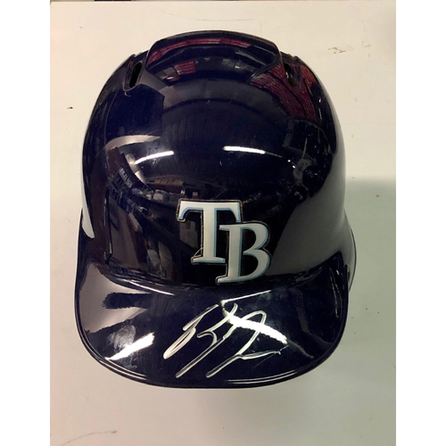 Photo of Team Issued Autographed Helmet: Ryan Yarbrough