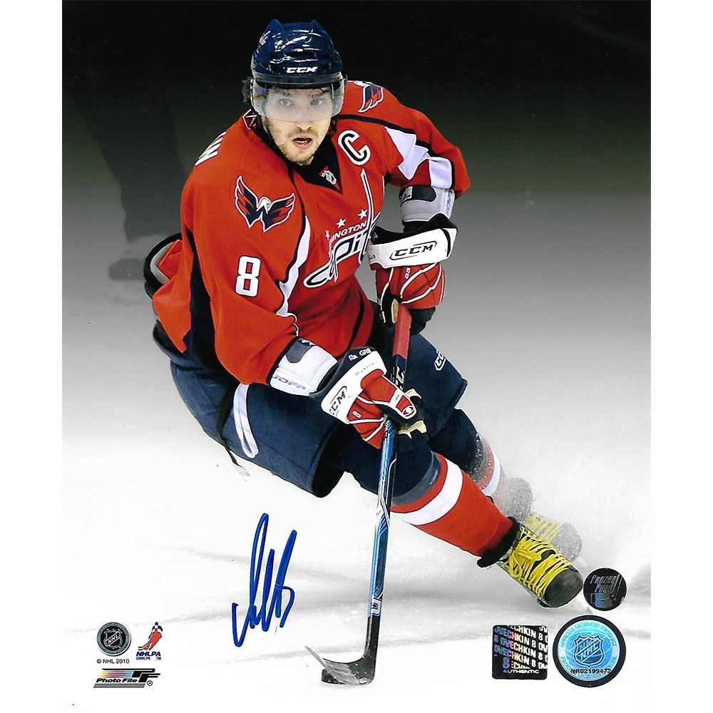 Alex Ovechkin Autographed Washington Capitals 8X10 Photo