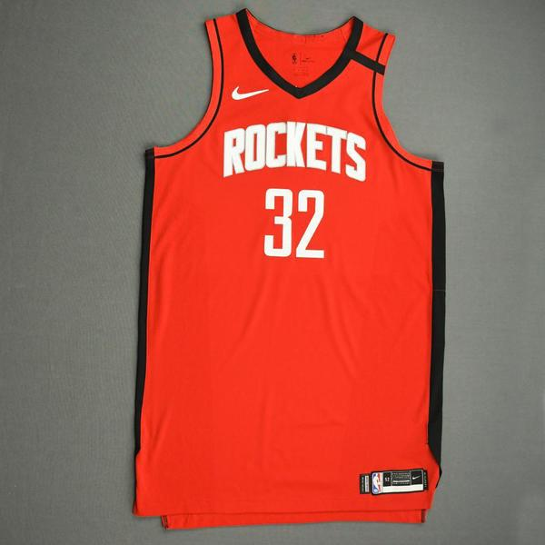 Image of Jeff Green - Houston Rockets - Game-Worn Icon Edition Jersey - 2019-20 NBA Season Restart with Social Justice Message