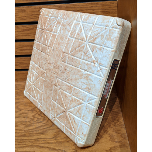 Photo of Boston Red Sox vs. New York Yankees April 11, 2018 Game Used 2nd Base