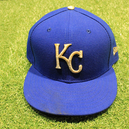 Photo of Game-Used 2020 Gold Hat: Tyler Zuber #53 (Size 7 5/8 - DET @ KC 9/25/20)