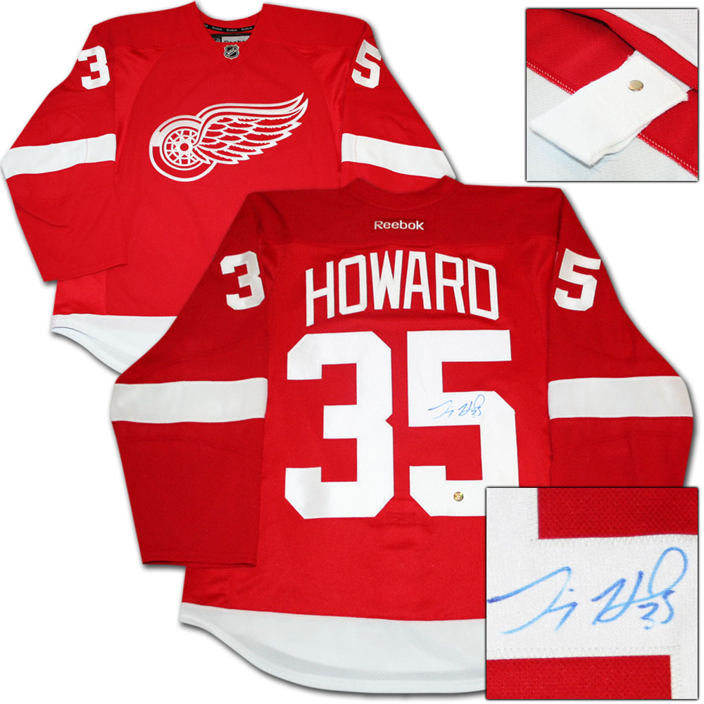 Jimmy Howard Autographed Detroit Red Wings Authentic Pro Jersey