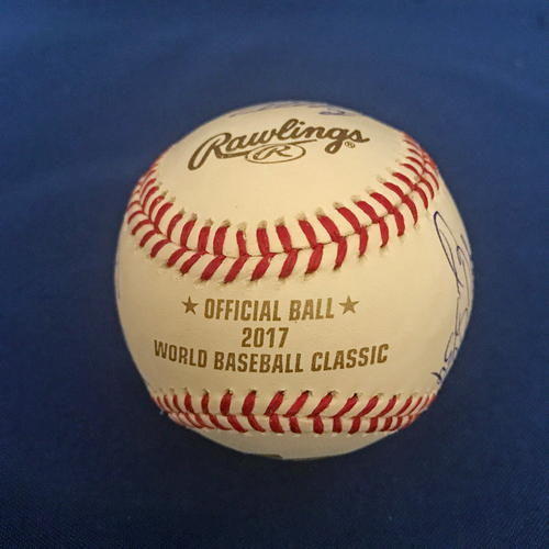 UMPS CARE AUCTION: 2017 World Baseball Classic Dominican Republic Team Signed Baseball