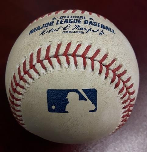 Authenticated Game Used Baseball - Home Run by Teoscar Hernandez vs Masahiro Tanaka on September 22, 2017 (Bottom 3). HR #3 of the Season.