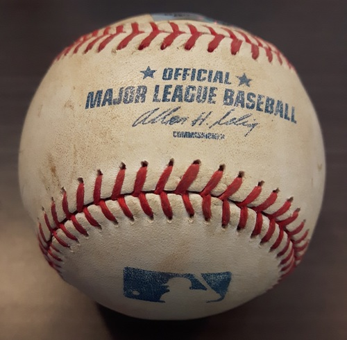 Photo of Authenticated Game Used Baseball - May 25, 2013: Single by Munenori Kawasaki against Freddy Garcia (Bottom 2)