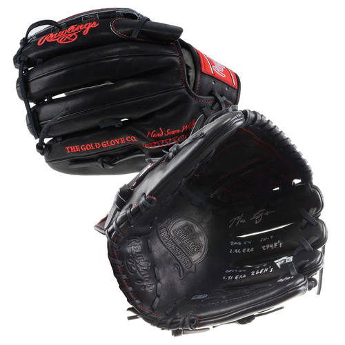 Photo of Max Scherzer Washington Nationals Autographed Rawlings Game Model Glove with 2016/2017 CY Stat Inscriptions - #31 In a L. E. of 31