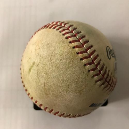 Photo of Freddie Freeman Game-Used Hit Single Baseball - 5/6/18