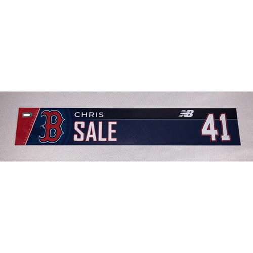 Photo of Chris Sale Game-Used May 20, 2018 Locker Tag