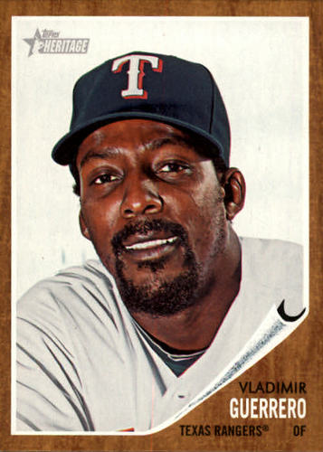 Photo of 2011 Topps Heritage #125A Vladimir Guerrero -- Newest Hall of Famer -- Class of 2018