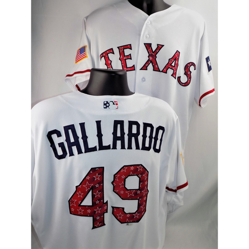 Photo of Yovani Gallardo Team Issued Stars & Stripes Jersey - 7/4/2018  - Size 48