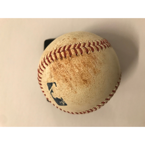 Photo of Jose Peraza Game Used Hit Triple Baseball - 6/26/2018