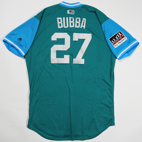 "Photo of Ryon ""Bubba"" Healy Seattle Mariners Game-Used Players'' Weekend Jersey"