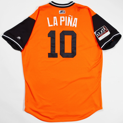 "Photo of Yuli ""La Pina"" Gurriel Houston Astros Game-Used 2018 Players' Weekend Jersey"