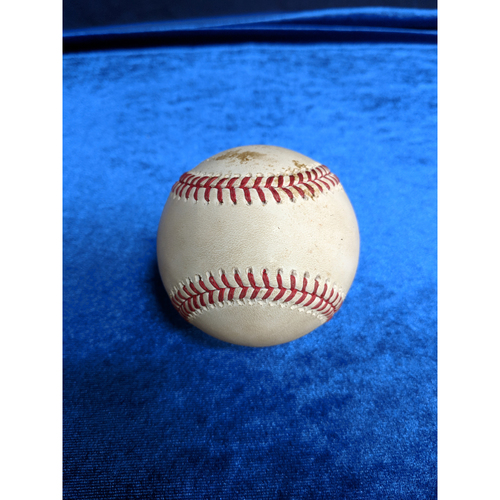 Photo of Game Used Baseball: Pitcher: Joe Biagini, Batter: Mike Trout (Single) - 6-24-2018 vs. TOR