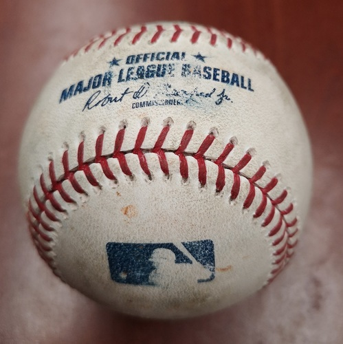 Photo of Authenticated Game Used Baseball - Single by Tim Anderson against Aaron Sanchez (May 12, 2019 vs CWS). Top 3.