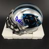 Panthers - DJ Moore Signed Mini Helmet