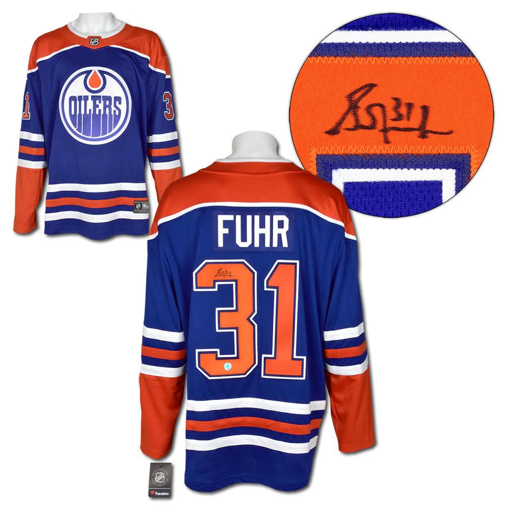 Grant Fuhr Edmonton Oilers Autographed Retro Alternate Fanatics Hockey Jersey
