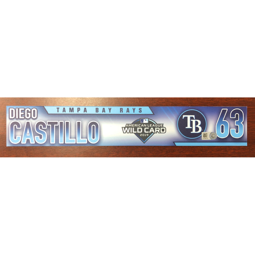 Photo of Game Used A.L. Wild Card Locker Tag: Diego Castillo - First Career Post Season Game