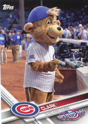 Photo of 2017 Topps Opening Day Mascots #M23 Clark