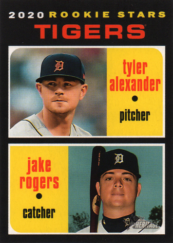 Photo of 2020 Topps Heritage #39 Jake Rogers RC/Tyler Alexander RC