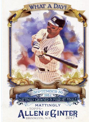 Photo of 2017 Topps Allen and Ginter What a Day #WAD56 Don Mattingly