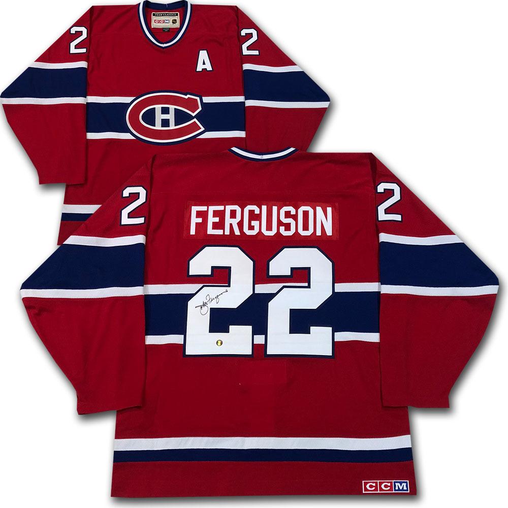 John Ferguson Autographed Montreal Canadiens CCM Pro Jersey