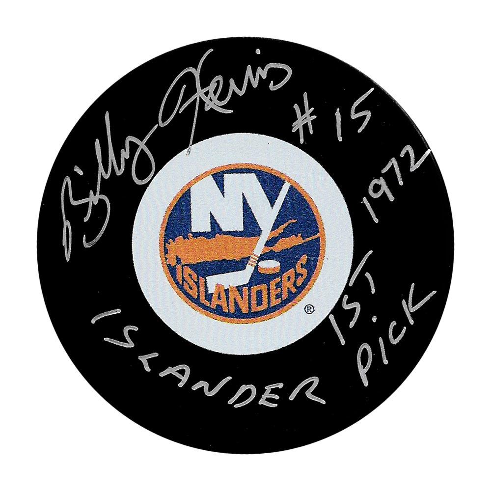 Billy Harris Autographed New York Islanders w/ISLANDER 1ST PICK 1972 Inscription