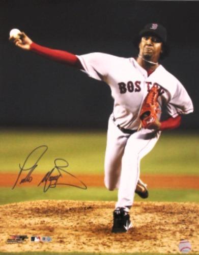 Pedro Martinez Red Sox Autographed 16x20