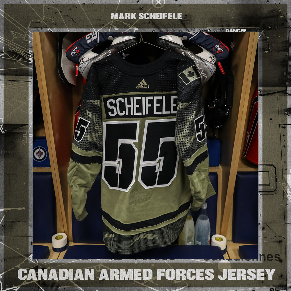 MARK SCHEIFELE (A) Warm Up Worn Canadian Armed Forces Jersey