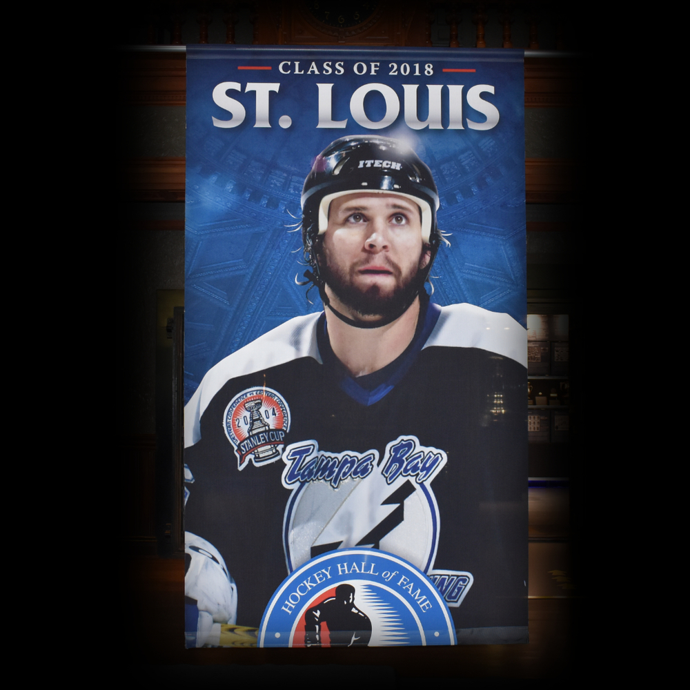 Martin St. Louis Hockey Hall of Fame Class of 2018 Banner (5ft x 9ft) - Limited Edition 1/1