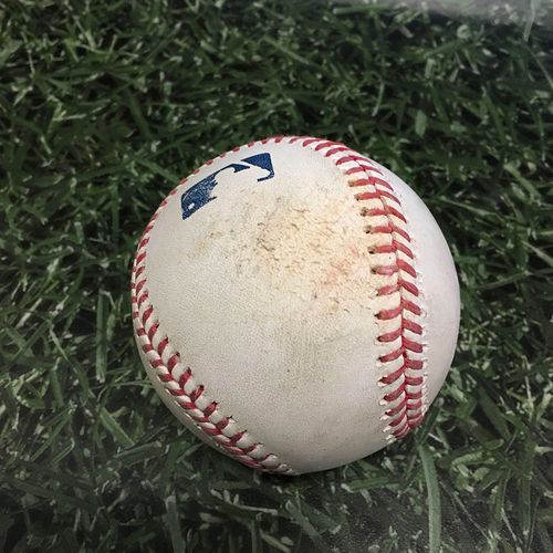 Photo of Game-Used Baseball MIN@MIL 04/04/21 - Cody Stashak - Luis Urias: Strike