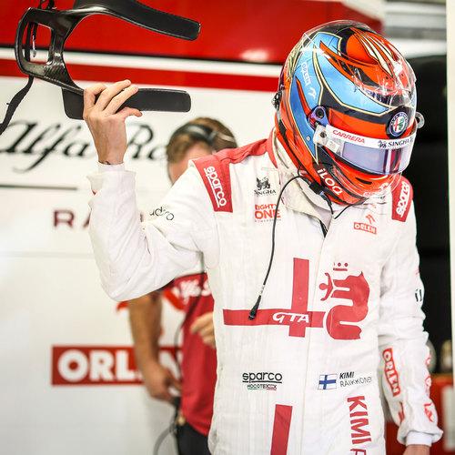 Photo of Kimi Räikkönen 2021 Signed Race Used Race Suit - British GP