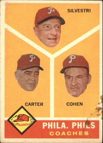 Photo of 1960 Topps #466 Phillies Coaches/Ken Silvestri/Dick Carter/Andy Cohen