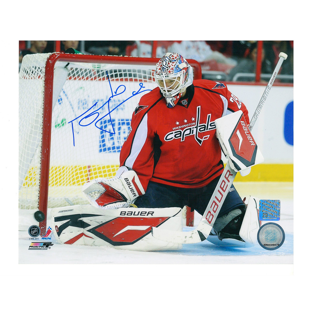 TOMAS VOKOUN Signed Washington Capitals 8 X 10 Photo - 70327