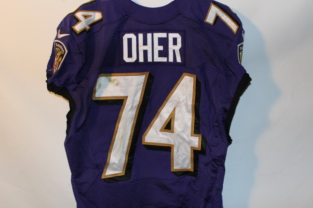 NFL Auction | RAVENS MICHAEL OHER GAME WORN JERSEY (OCTOBER 6, 2013)