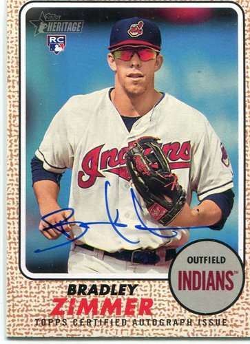 Photo of 2017 Topps Heritage Real One Autographs #ROABZ Bradley Zimmer