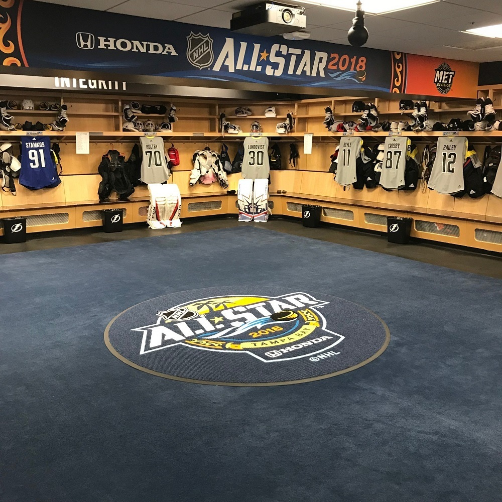 2018 NHL All Star Game Locker Room Carpet - Home Room