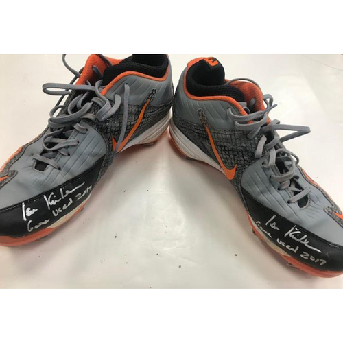 Photo of Player Collected Autographed Cleats: Ian Kinsler