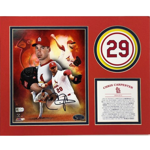 Photo of Cardinals Authentics: St. Louis Cardinals Chris Carpenter Autographed Hall of Fame Matte