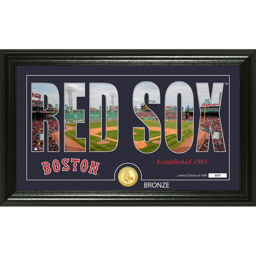 "Photo of Boston Red Sox ""Silhouette"" Panoramic Bronze Coin Photo Mint"