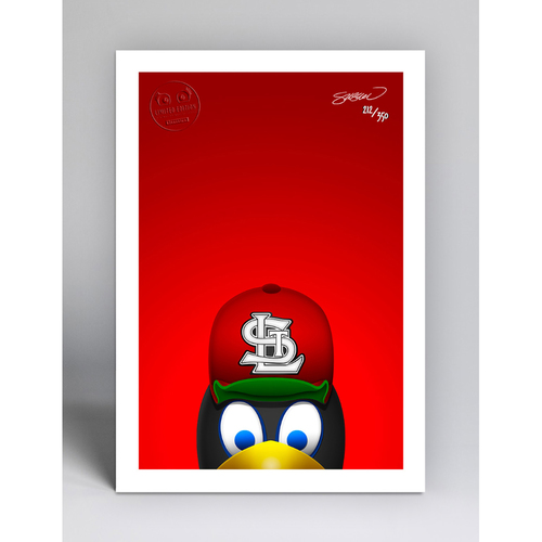 Photo of Fredbird - Limited Edition Minimalist Mascot Art Print by S. Preston  - St. Louis Cardinals