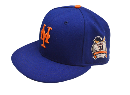 Photo of Eric Langill #78 - Game Used Blue Hat - Mike Piazza Number Retirement Ceremony - Mets vs. Rockies - 7/30/16